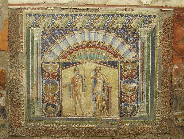 Mosaikaus dem Haus von Neptun und Amphritite in Herculaneum, Kampanien, Italien