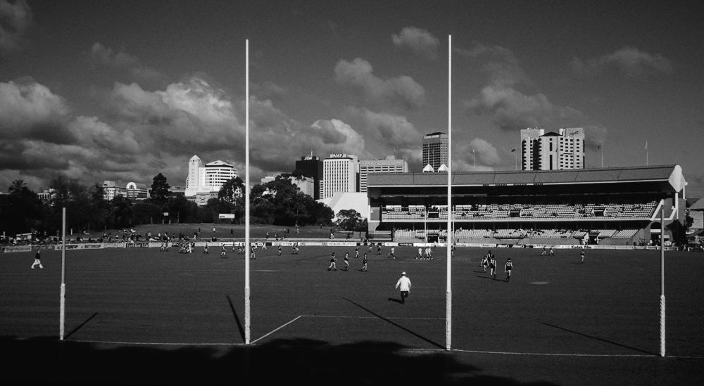 Australien-Football ist eine härtere Version des Rugby, Adelaide, Australien