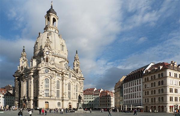 Dresdener Frauenkirche am Neumarkt, Dresden, Sachsen, Deutschland