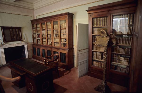 Arbeitszimmer von Napoleon in der Villa dei Mulini (Museo Napoleonico), Elba, Toskana, Italien