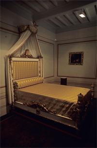Schlafzimmer von Napoleon in der Villa dei Mulini (Museo Napoleonico), Portoferraio, Elba, Italien