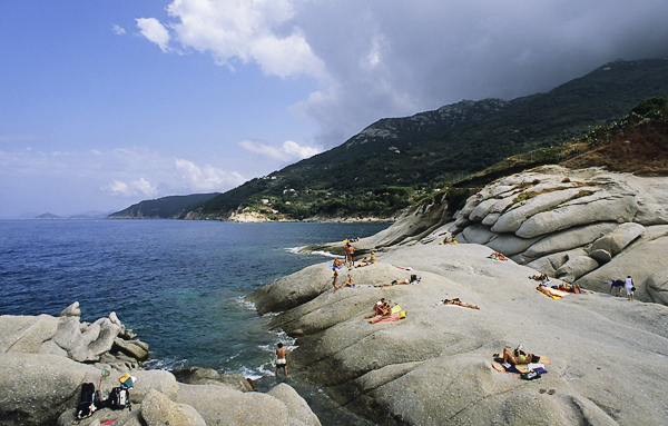 Felsküste bei Sant'Andrea, Elba, Toskana, Italien