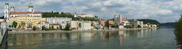 Panorama der Altstadt von Passau, Bayern, Deutschland