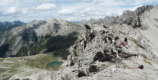 Bittrichscharte und Seekogel, Lechtaler Alpen, Tirol Österreich