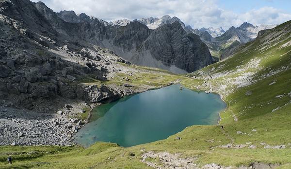 Gufelsee vor Steinkarspitze, Lechtal,Tirol, Österreich
