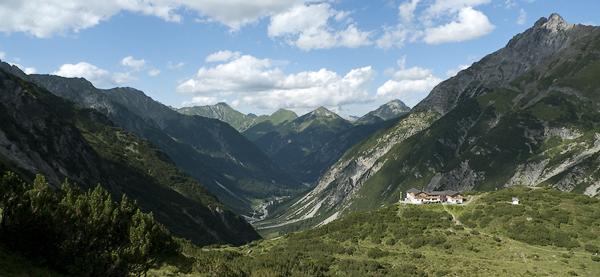 Hanauer Hütte im Angerletal, Lechtaler Alpen, Tirol, Österreich