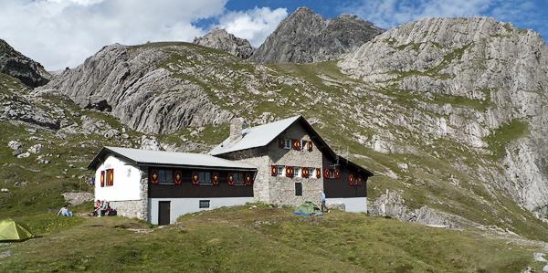 Württemberger Haus im Obermedirol, Lechtaler Alpen, Tirol Österreich