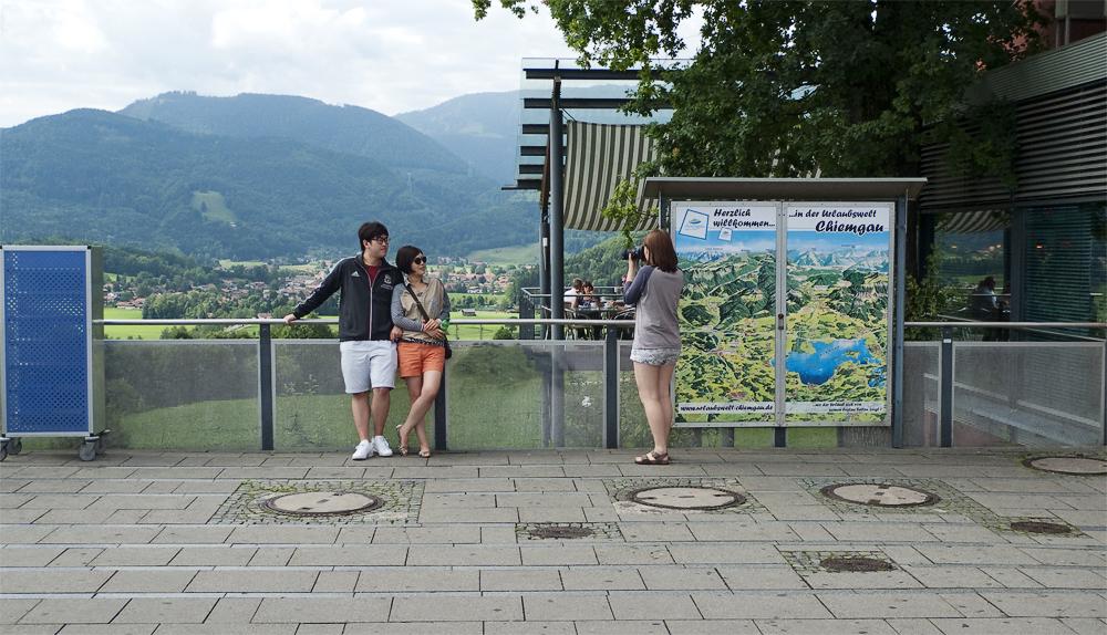 Der Halt am Rastplatz ermöglicht die Gelegenheit für einen genaueren Blick in die Umgebung