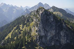 Ammergauer Alpen vom Teufelstättkopf, Bayern, Deutschland