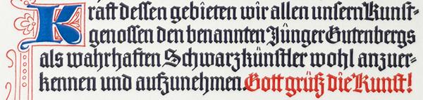 Auszug Gautschbrief