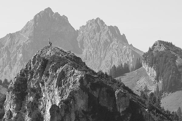 Laubeneck und Klammspitze in den Ammerhgauer Alpen, Bayern, Deutschland