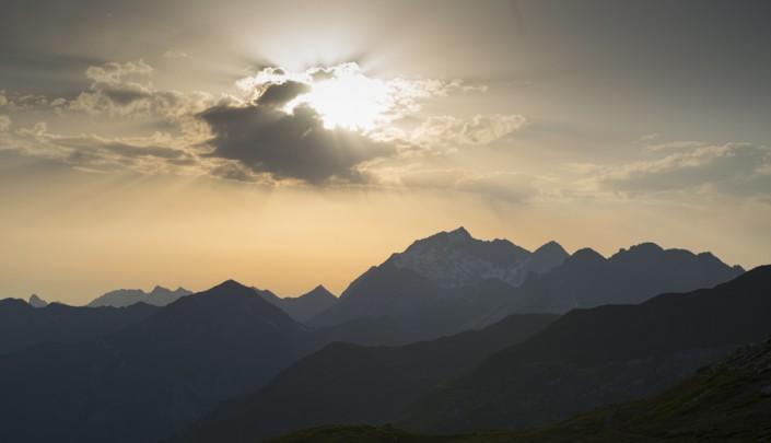 Blick auf die Schesaplana von der Carschinahütte, Rätikon, Graubünden, Schweiz