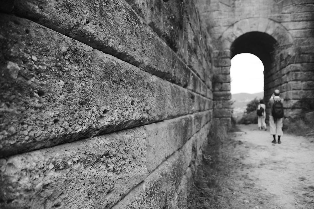 Die Porta Rosa des altgriechischen Elea, Cilento, Kampanien, Italien