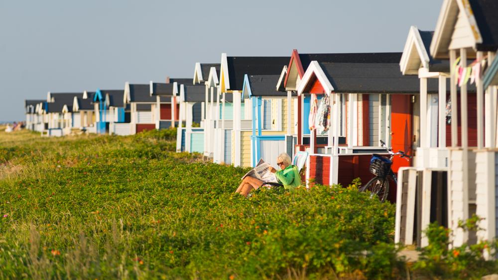 Strandhütten bei Skanör, Schonen, Schweden