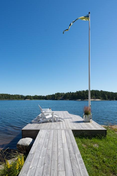 Bootssteg in den Schären der schwedischen Ostküste
