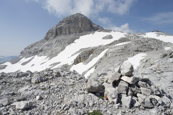 Gipfel der Sulzfluh im Rätikon, Vorarlberg, Österreich, Graubünden, Schweiz