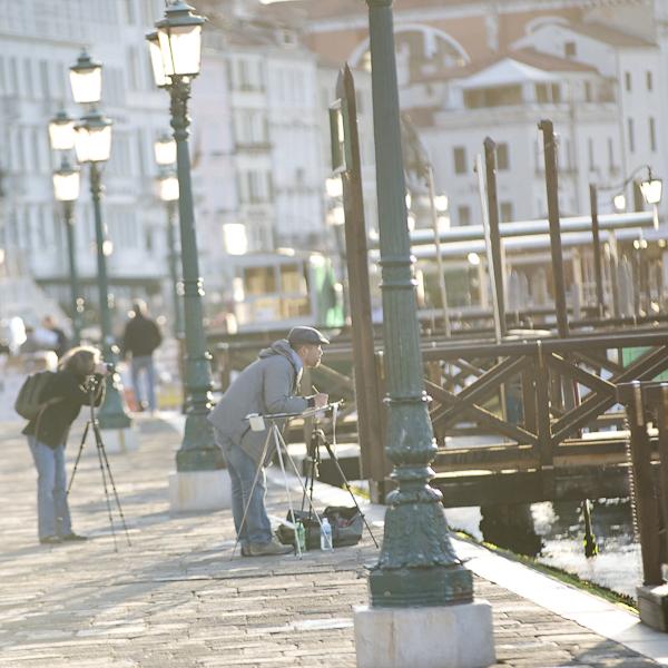 Morgenstimmung auf der Piazetta San Marco, Venedig, Italien