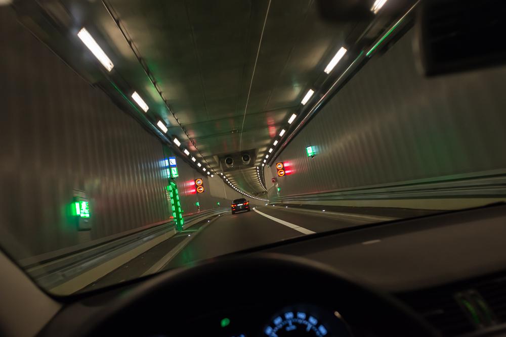 Im Luise-Kiesselbach-Tunnel in München