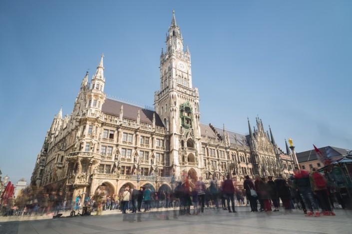 Rathaus von München am Marienplatz,Bayern,Deutschland