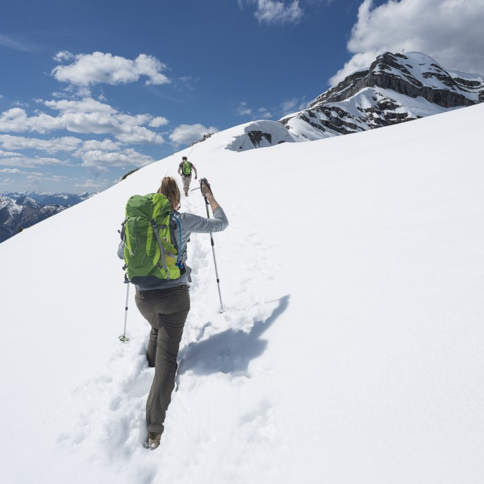 Aufstieg zum Schafreiter im Karwendelgebirge, Tirol,Österreich