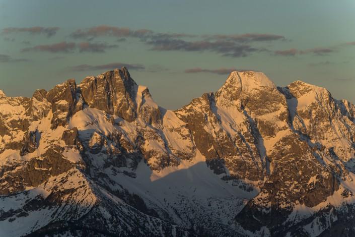 Die Östliche Karwendelspitze und die Vogelkarspitze im Karwendel,Tirol,Österreich