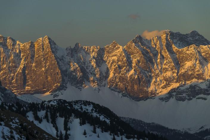 Laliderer Wände und Moserkarspitze vor dem kleinen Ahornboden im Karwendel,Tirol,Österreich