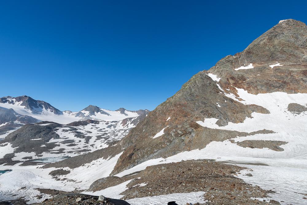 Letzter Anstieg zum Becherhaus, Ridnauntal, Südtirol, Italien