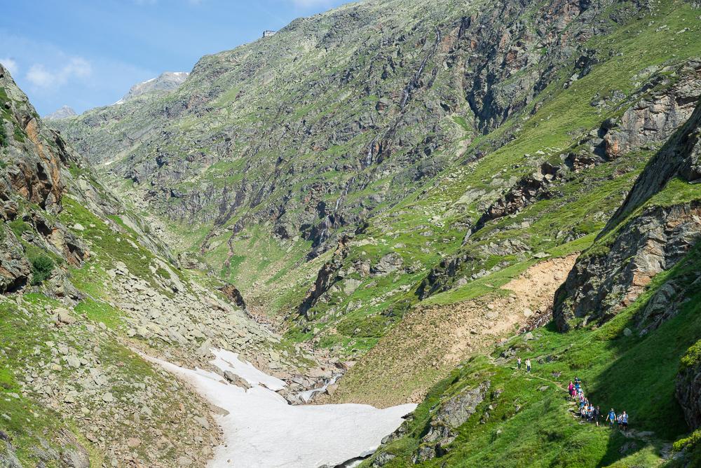 Aufstieg zum Becherhaus aus dem Ridnauntal, Südtirol, Italien