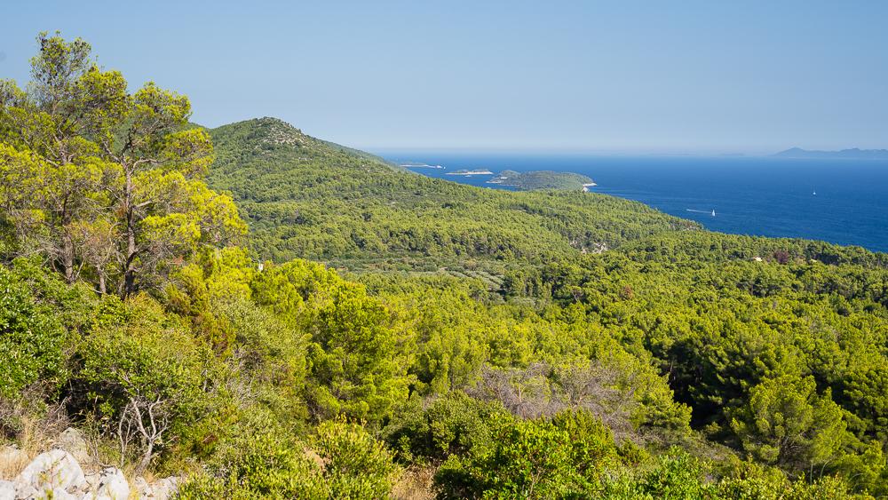 Südküste von Korčula bei Potirna, Süddalmatieen, Kroatien